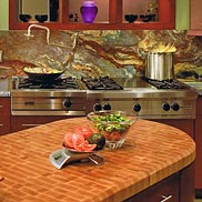 Maple Butcher Block Countertop in California