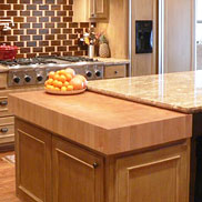 Maple Butcher Block Countertop in Texas