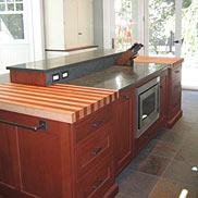 Maple w/ African Mahogany Striped Wood Countertop
