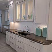 Palladium Metal Bar Counter for a Wet Bar Area of a Kitchen in Gulf Shore Alabama