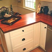 Santos Mahogany Wood Countertop in New Jersey