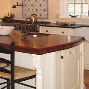 Sapele Mahogany Wood Kitchen Island