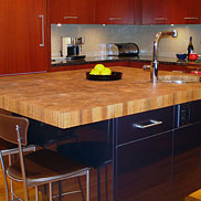 Teak Butcher Block Countertop in Boston MA