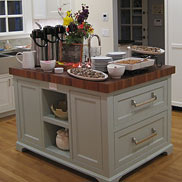 Burmese Teak Butcher Block Countertop in California