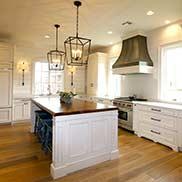 Custom Walnut Hand Planed Island Counter for a white farmhouse style kitchen located in Harahan, Louisiana