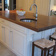 Walnut Wood Kitchen Island