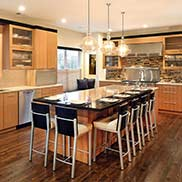 Stained White Oak Kitchen Bar Top in Monroe Township, New Jersey