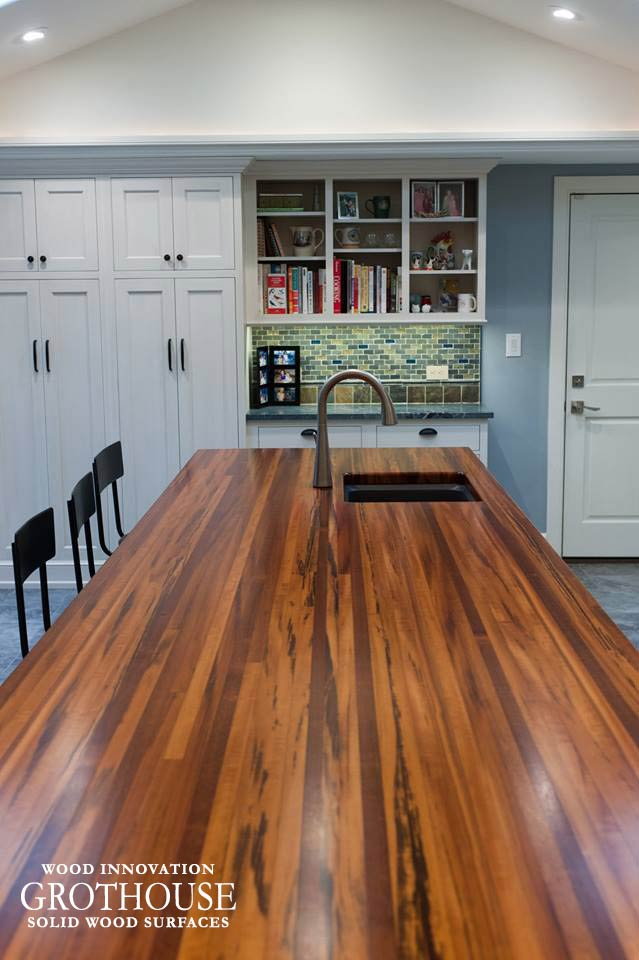 Tigerwood Kitchen Countertop in West Chester, PA