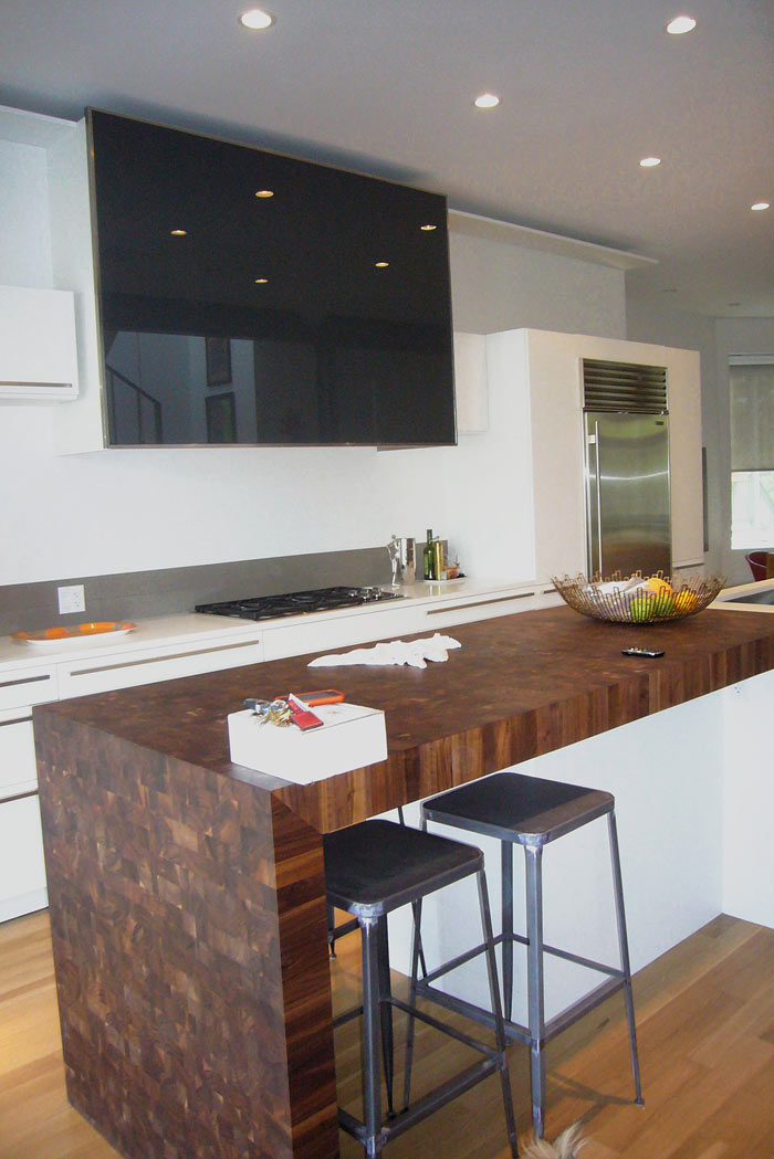 Custom Walnut Butcher Block Countertop In Chicago Illinois