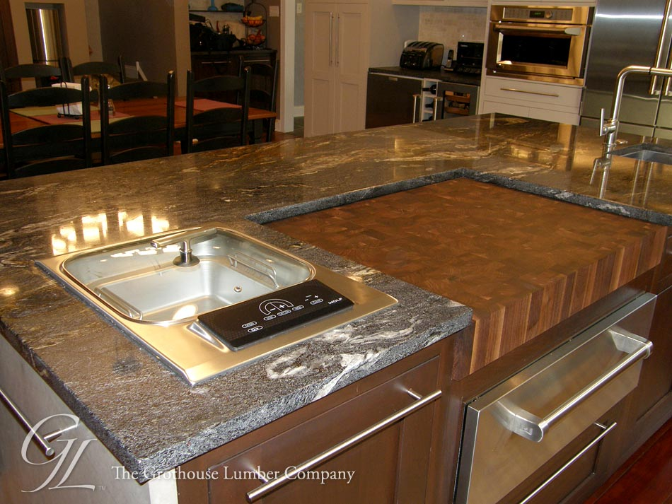 Walnut butcher block countertop in west chester pennsylvania How to install butcher block countertop
