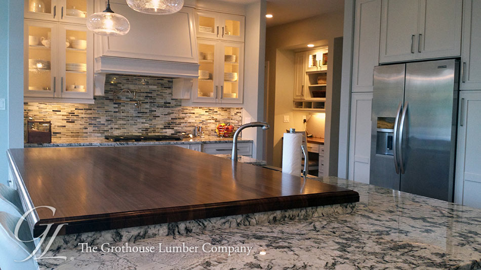 Custom Wood Kitchen Islands custom walnut wood kitchen island top in princeton new jersey