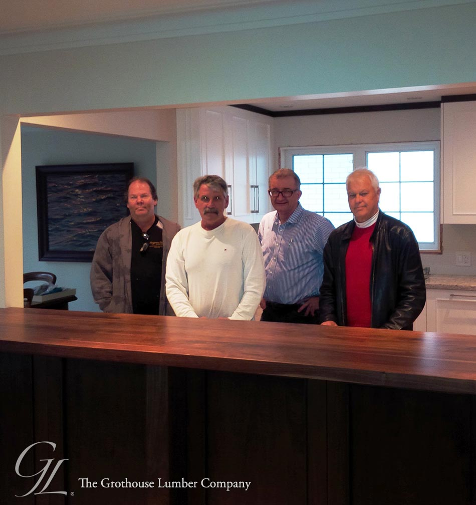 The Designers Plus Team with Walnut Wood Countertop