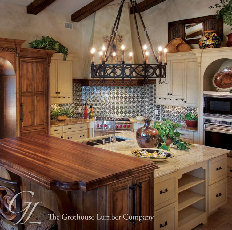 Walnut Countertops: Wood Countertops In Florida For A Raised Kitchen Island