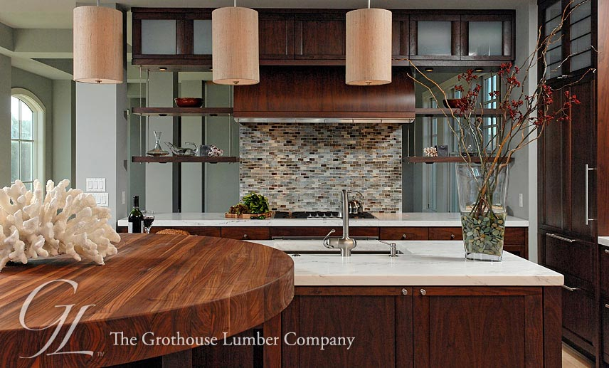 walnut wood countertop modular island in bethany delaware