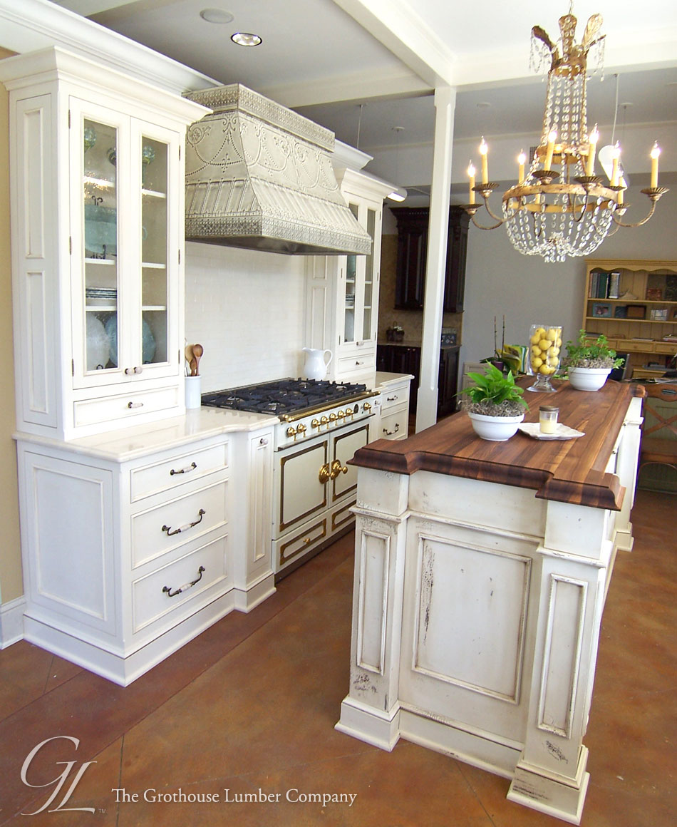 Custom walnut wood countertop kitchen island in new orleans louisiana