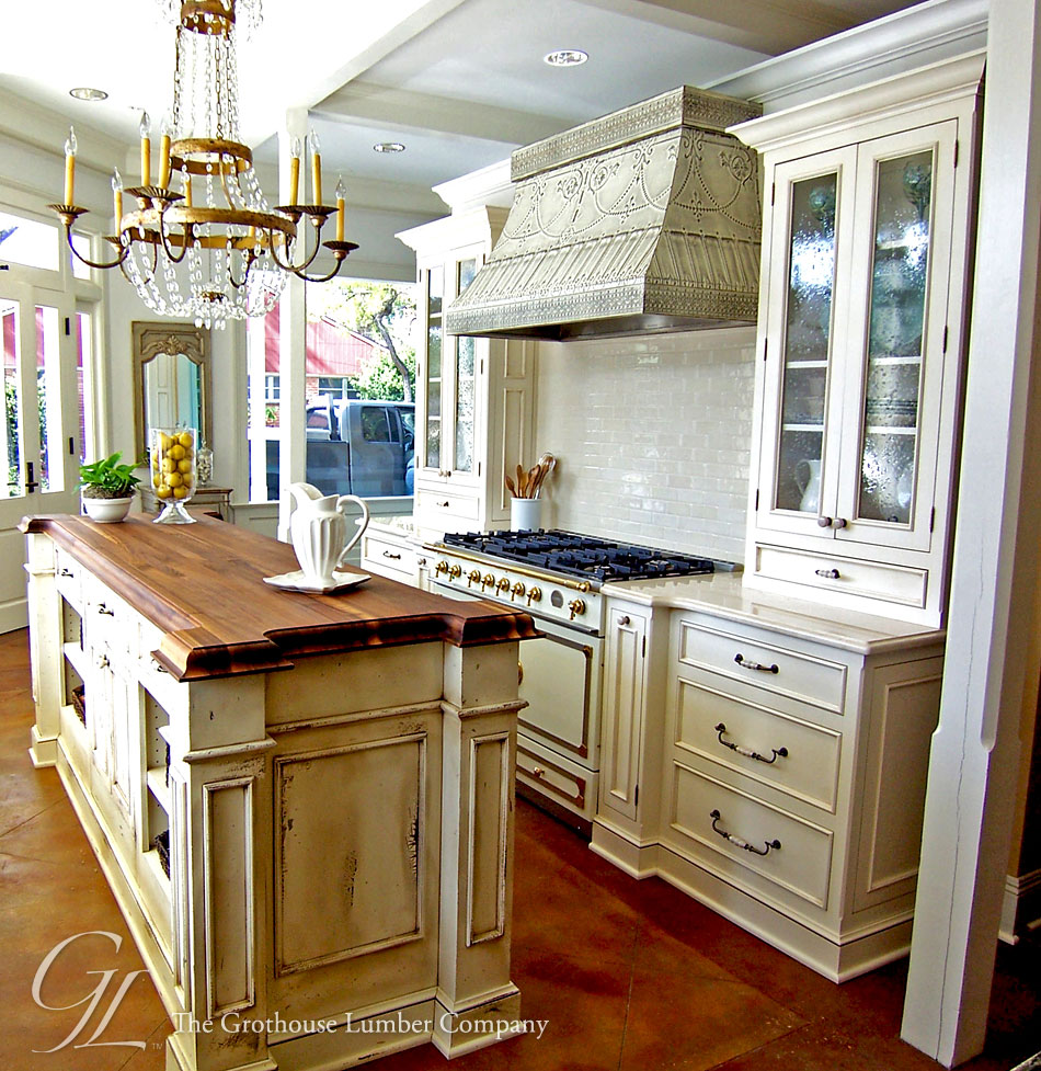 Kitchen Island With Countertop : Custom Walnut Wood Countertop Kitchen Island in New Orleans Louisiana