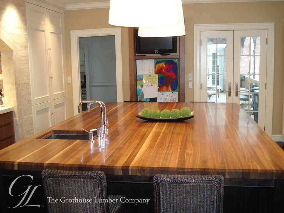 Custom Wood Kitchen Islands custom walnut wood countertop in boston, massachusetts
