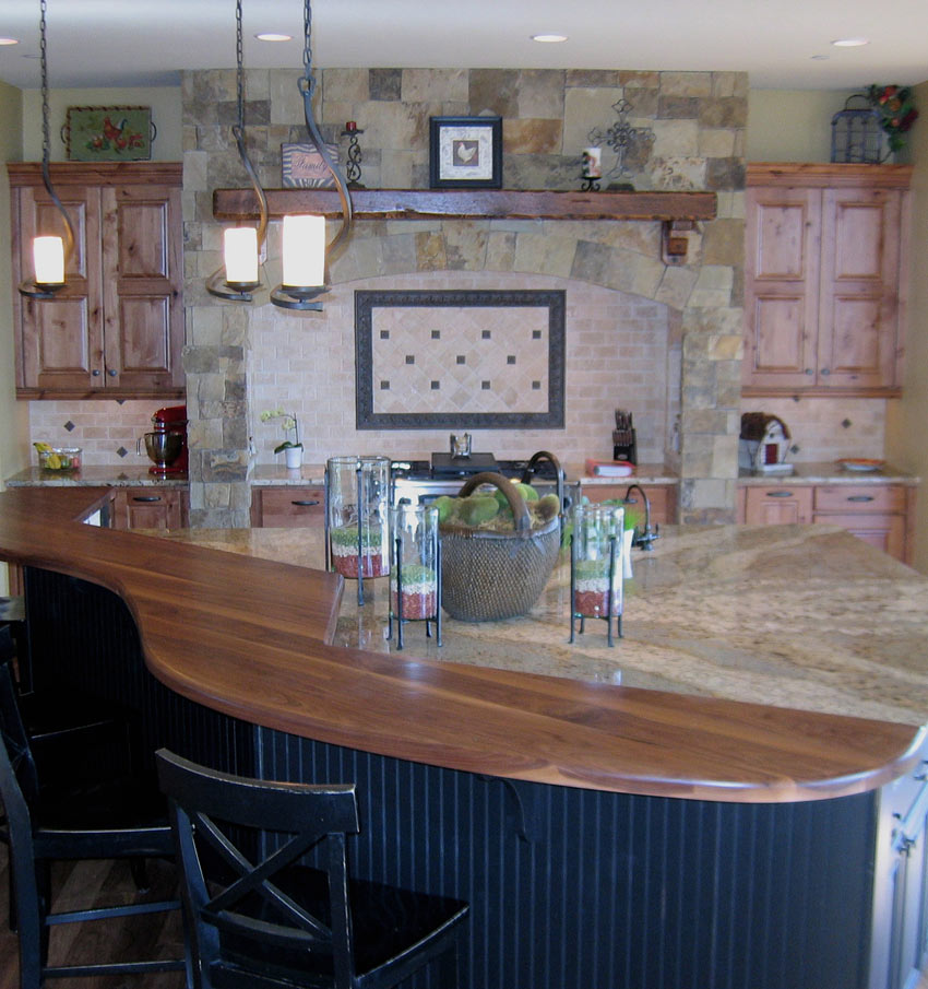 Bar Custom Wood And Woods: Top Custom Walnut Wood Counter In Fort Collins, Colorado