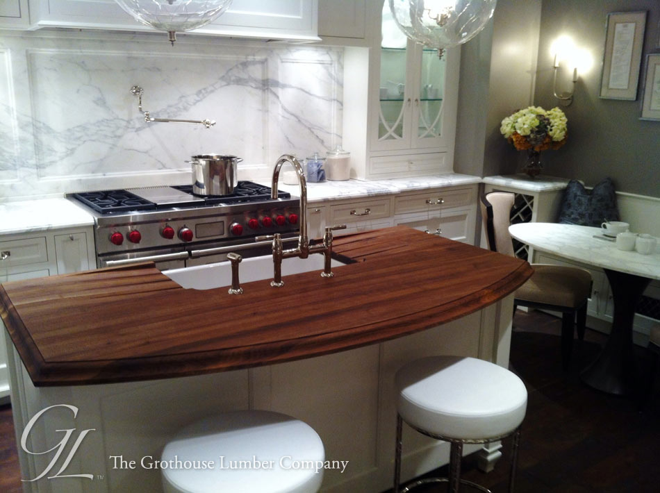 Custom Walnut Wood Countertop in Chicago, Illinois