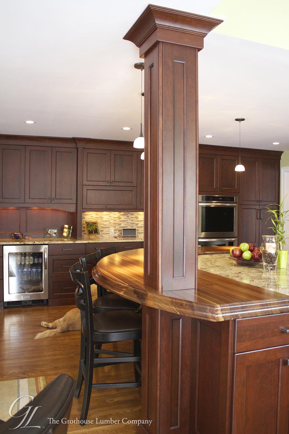 Walnut Countertop Designed By Auer Kitchens In Cincinnati OH
