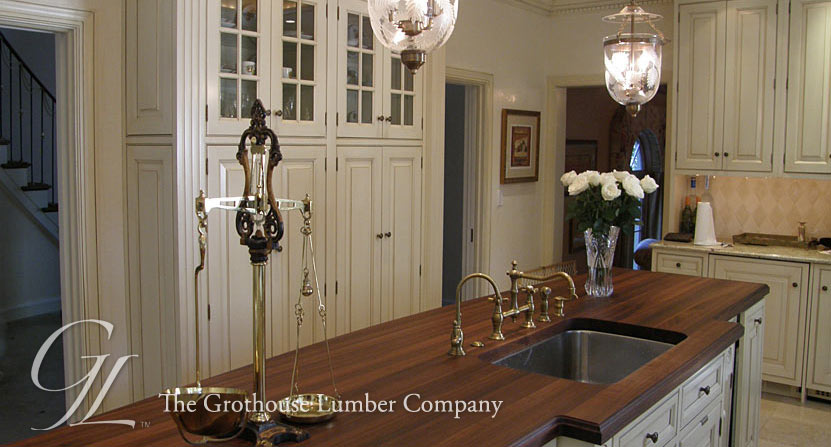 Walnut Wood Countertop with Standard Double Roman Ogee