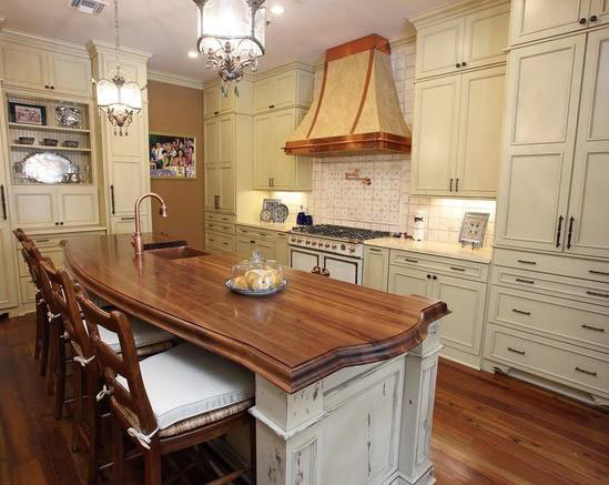 Walnut wood countertop in new orleans louisiana for Kitchen design 70115