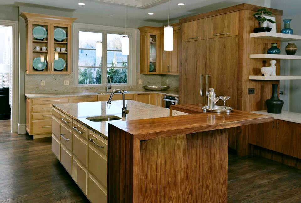 Walnut Waterfall Pastore Wood Countertops