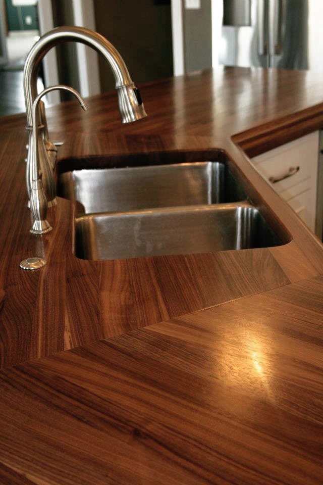 Custom Walnut Wood Countertop in Watford City North Dakota on butcher block countertop marble, butcher block countertop bathroom, butcher block countertop laundry,