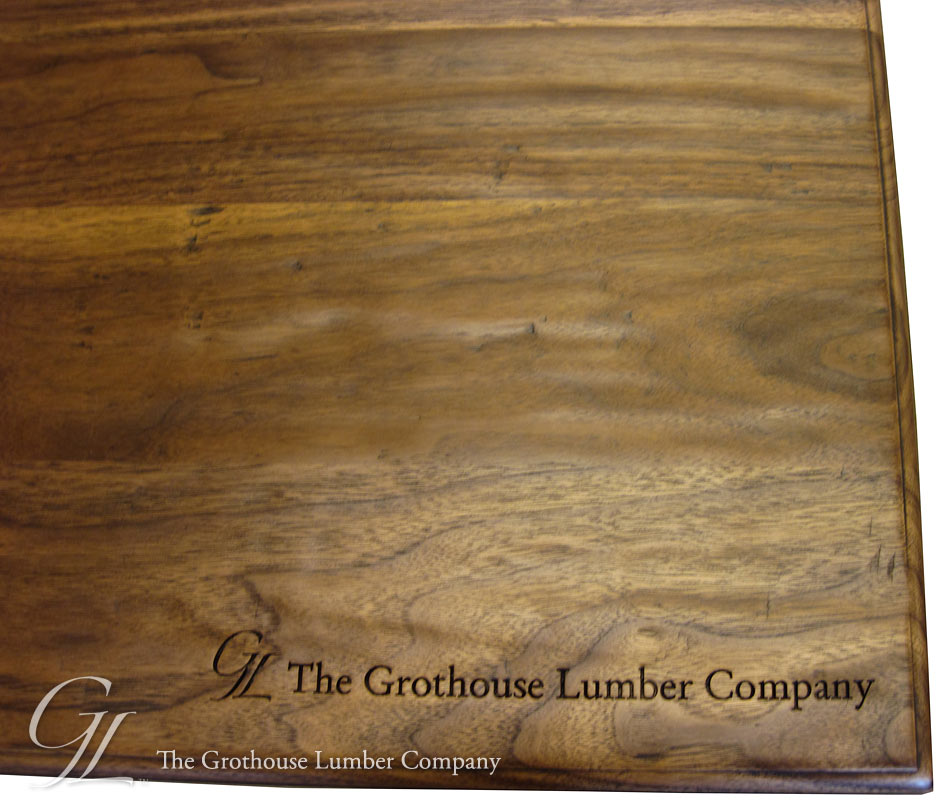 Walnut Wood Counter w/ Hand Planed Distressing in Wisconsin