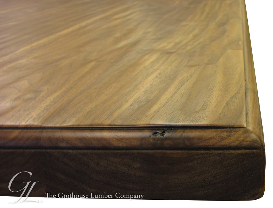 Custom Walnut Hand Planed Distressing Wood Counter