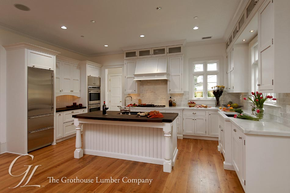 Wenge wood countertop on kitchen island in potomac maryland for Wenge kitchen designs