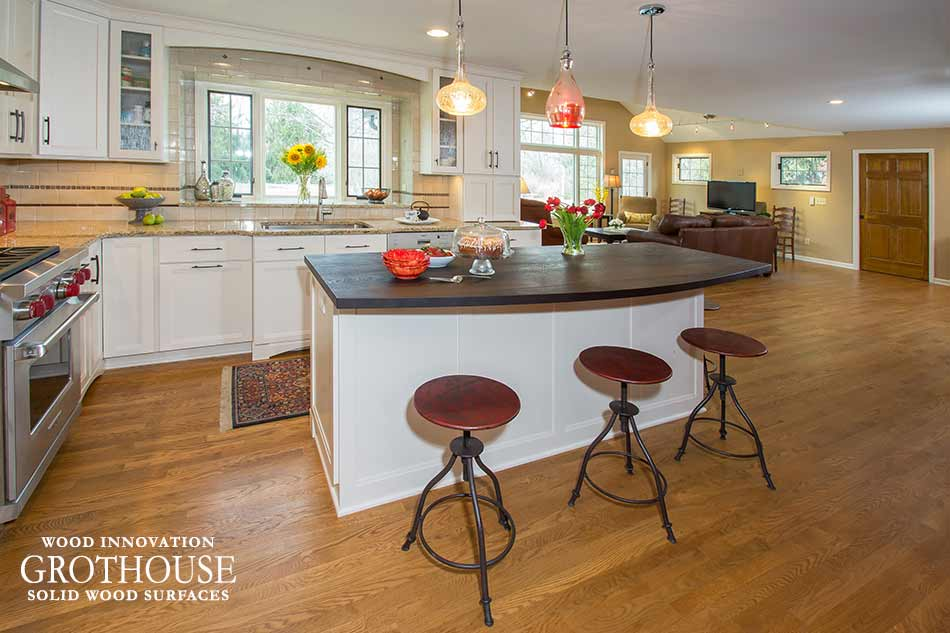 Custom Wenge Kitchen Island Counter in Worthington, Ohio
