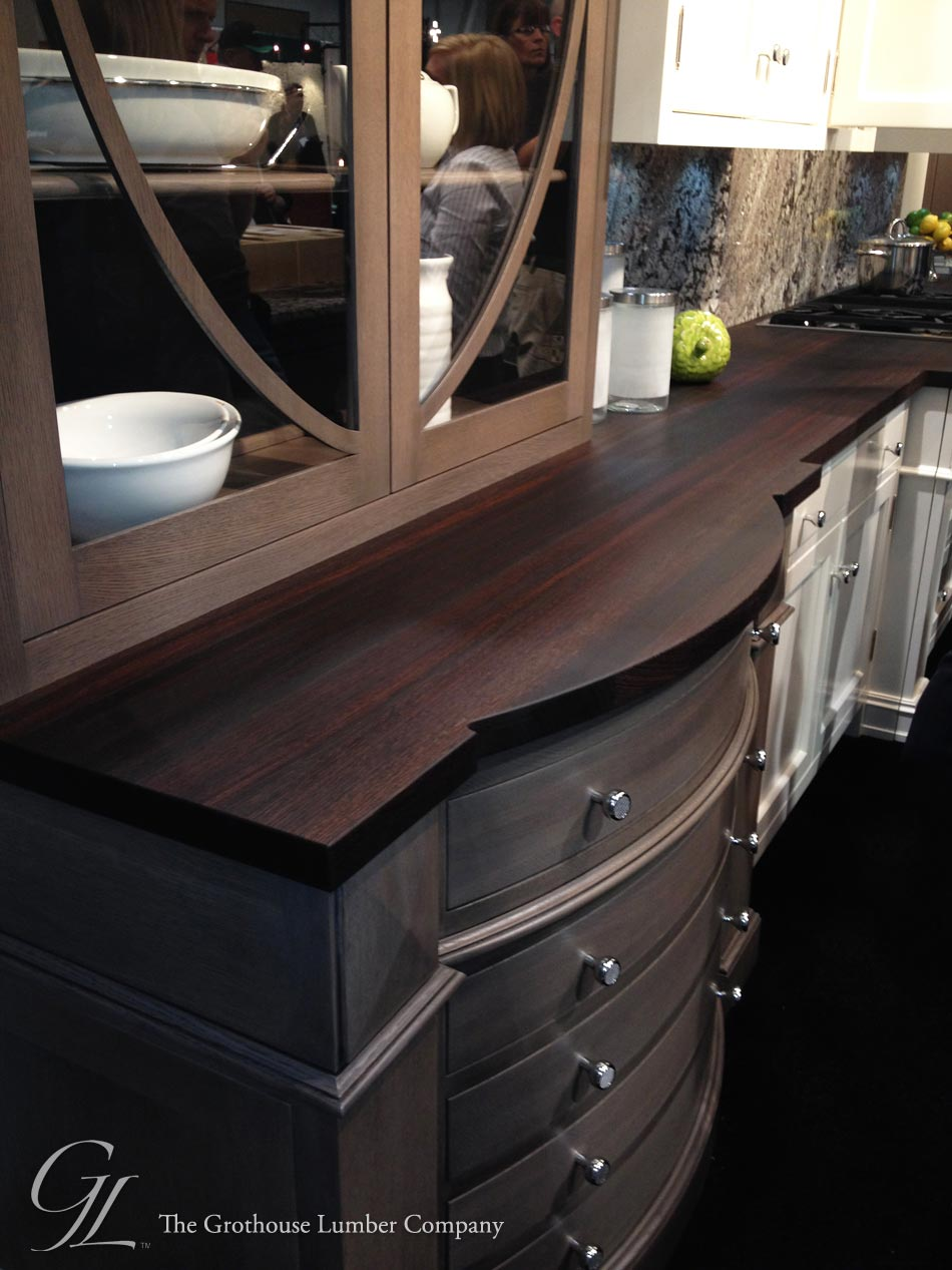 Custom Wenge Dark Wood Countertop Displayed At KBIS 2014