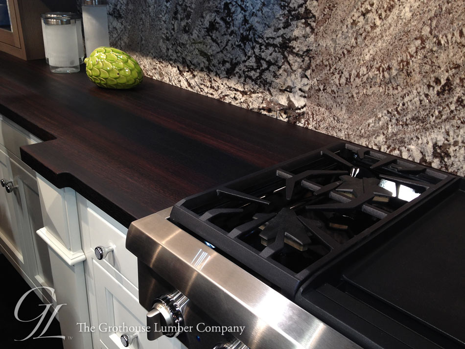 Wenge Countertop with Stove in Bremtown booth KBIS 2014