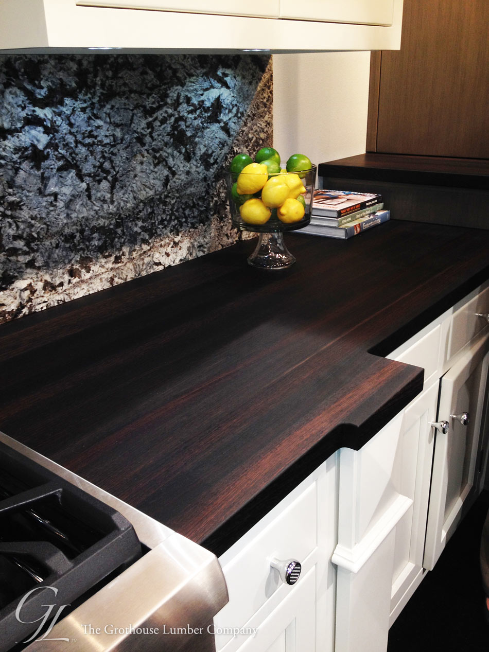 Wood Countertop With Stove : Wenge Countertop with Stove at Bremtown booth KBIS 2014