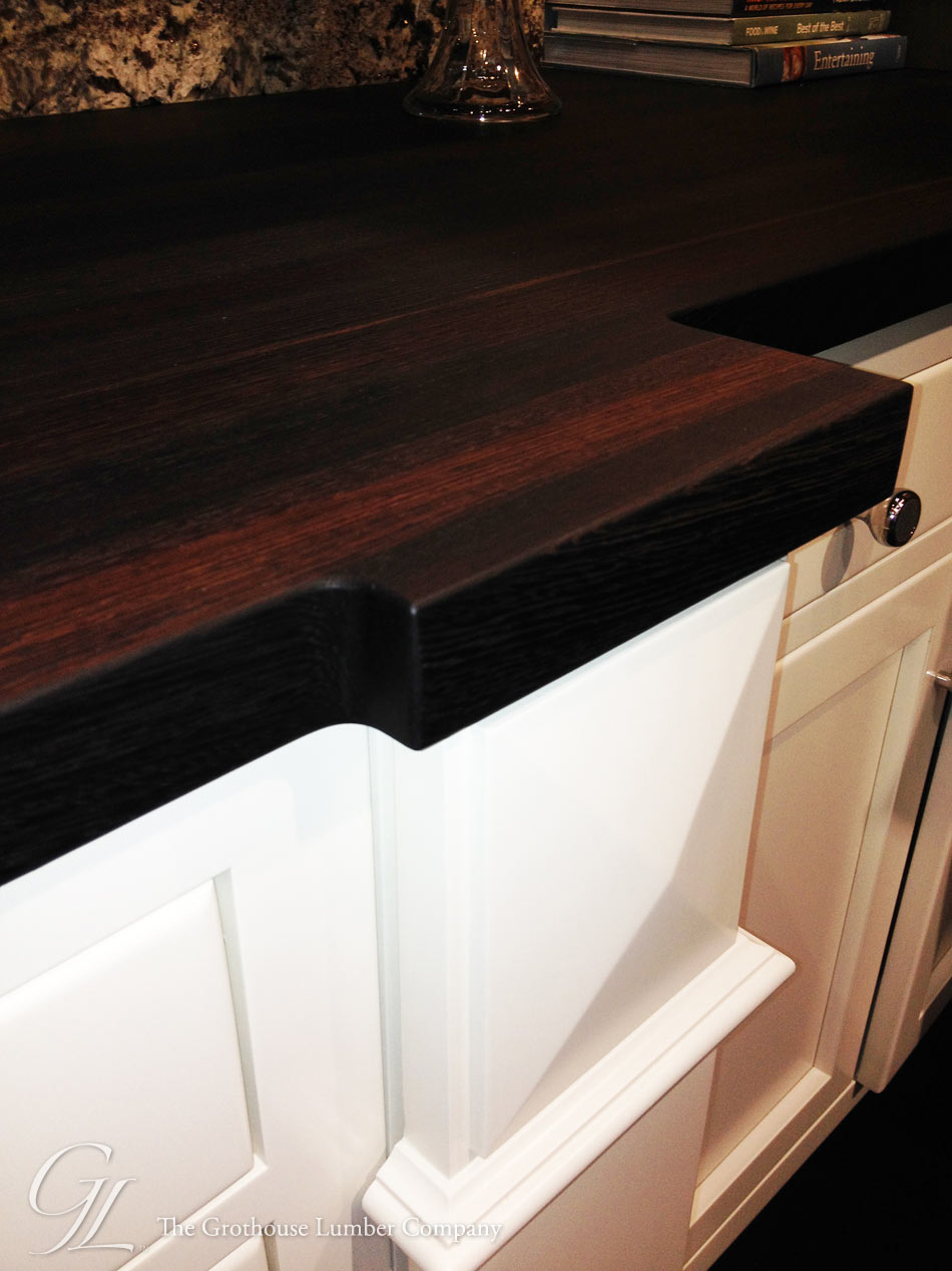 Custom Wenge Countertop with Expanded Corners at KBIS 2014