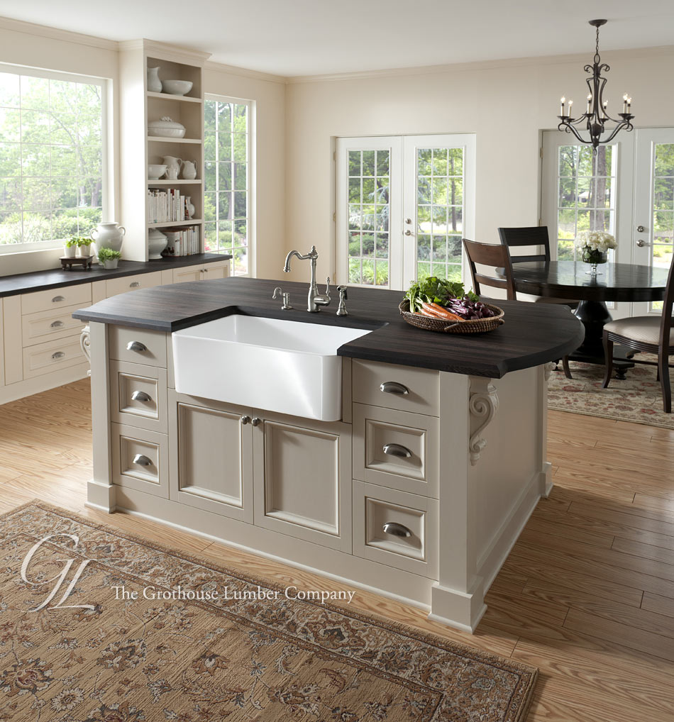 Wenge Wood Countertop In Philadelphia, Pennsylvania
