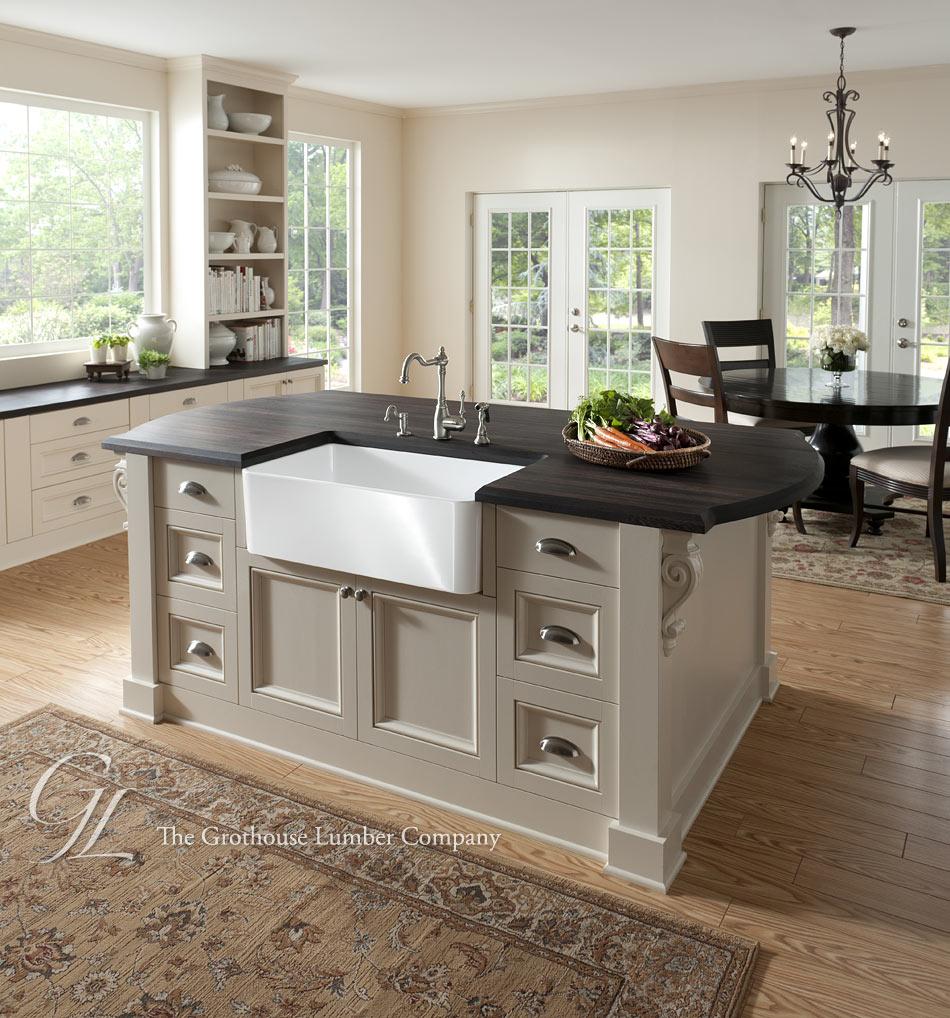 Kitchen Island Tops: Wenge Wood Countertop In Philadelphia, Pennsylvania