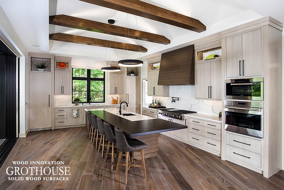 Beau White Oak Kitchen Island Countertop Crafted By Grothouse Inc. For A  Transitional Kitchen Design In