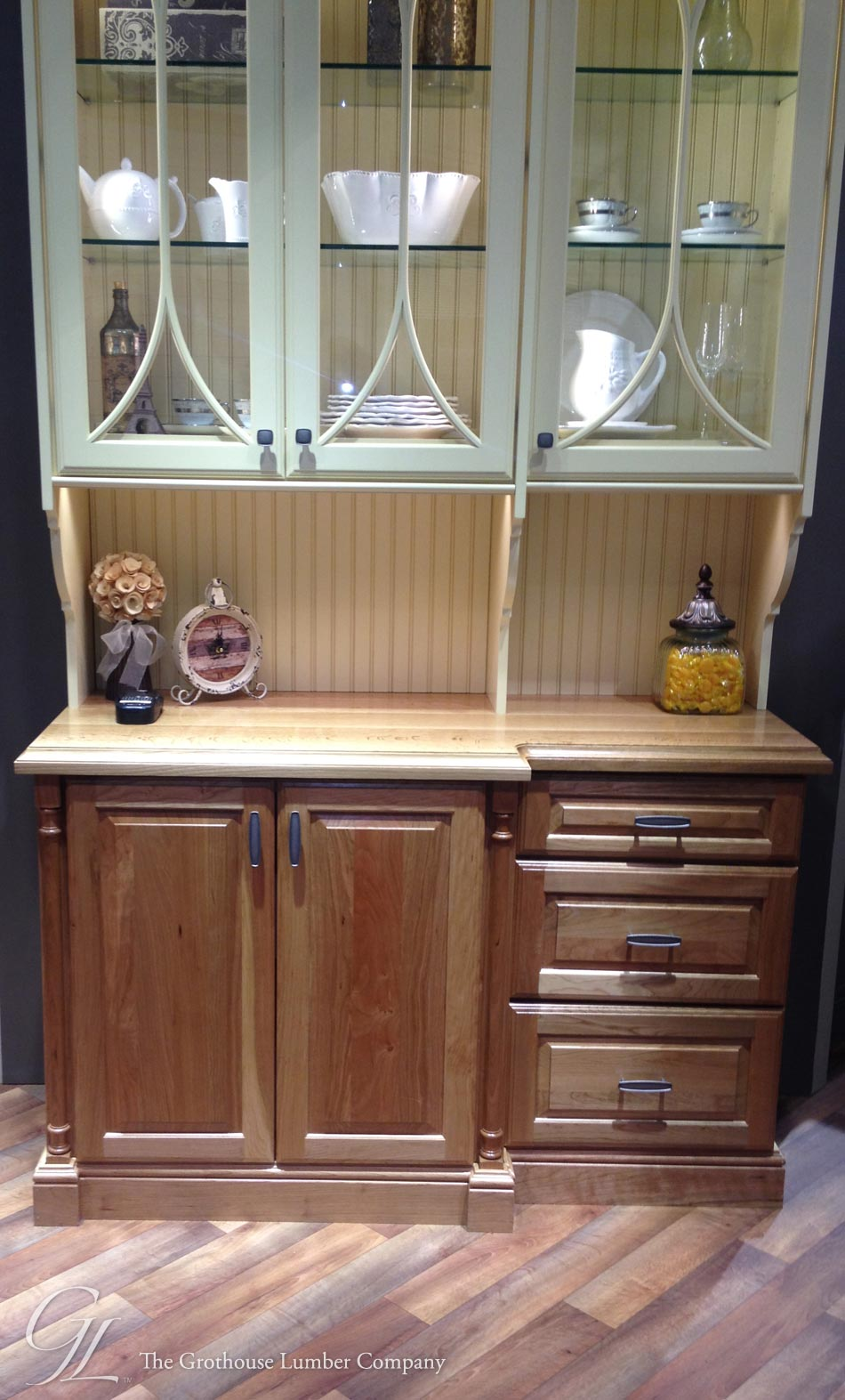 White Oak Counter Displayed In The Elkay Booth At Kbis 2014