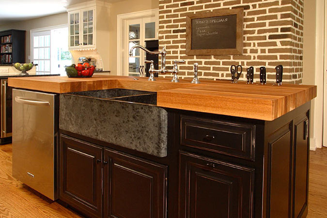 Wood Countertop Finish Options : Wood Countertops with the Original Oil? can be used for a kitchen ...