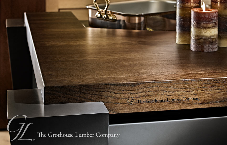 Wood Countertop with laser engraving