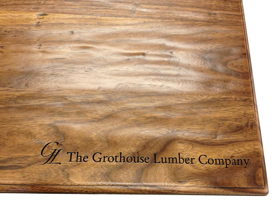 Oak Wood Countertop with Laser Engraving