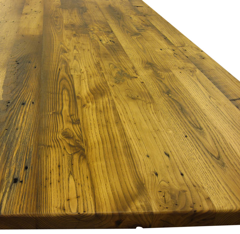 chestnut reclaimed wood countertop