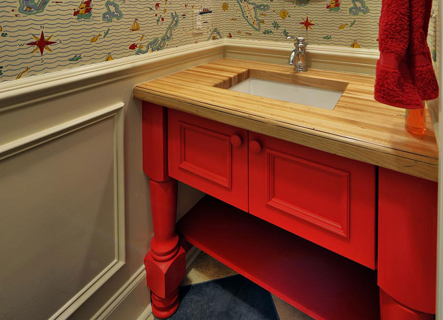 Perfect Wood Bathroom Countertops
