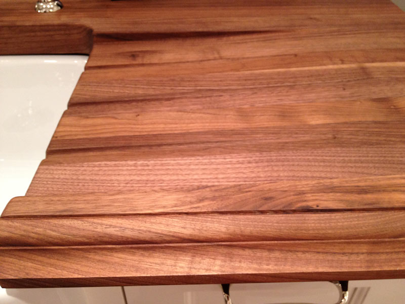 Wood Countertop with drainboard