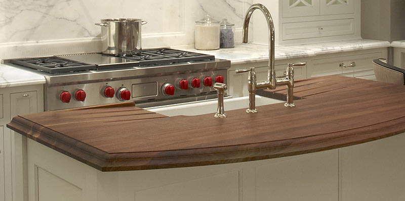 Wood Countertop with drainboards
