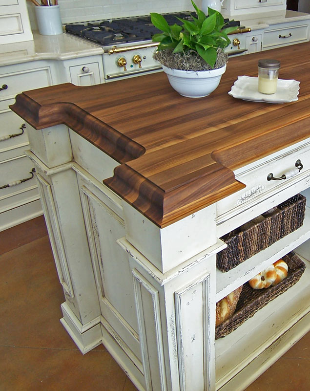 Wood Countertop with expanded corner