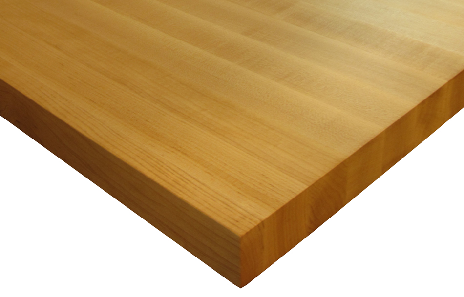 Custom wood countertops edge grain by grothouse for Maple slab countertop