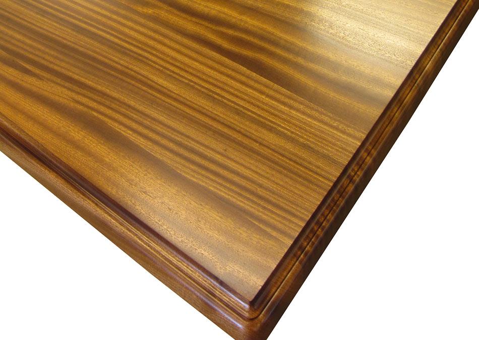 Sapele Mahogany Wood ~ Custom wood counters flat grain by grothouse